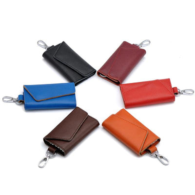Genuine Leather Keychain Holder Organizer - audio receiver