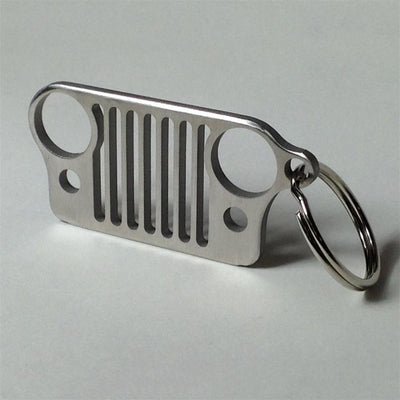Stainless Steel Grill Jeep Key Ring