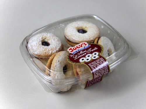 10 OZ Mini Linzer Tart Cookie Clamshells (2 Pack)