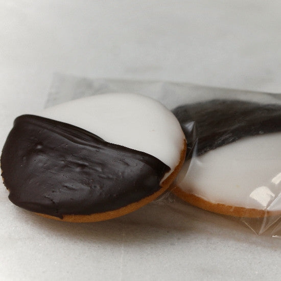 24 Mini Black and White Cookies - Individually Wrapped