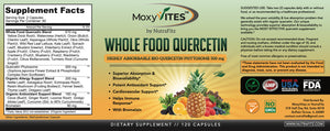Quercetin 500mg with Bromelain Supplement, Bioactive Phytosome Complex, Pure Organic Whole Food Allergy Support, Healthy Inflammatory Response, Antioxidant, 20X Absorption & Bioavailability-120 Capsules