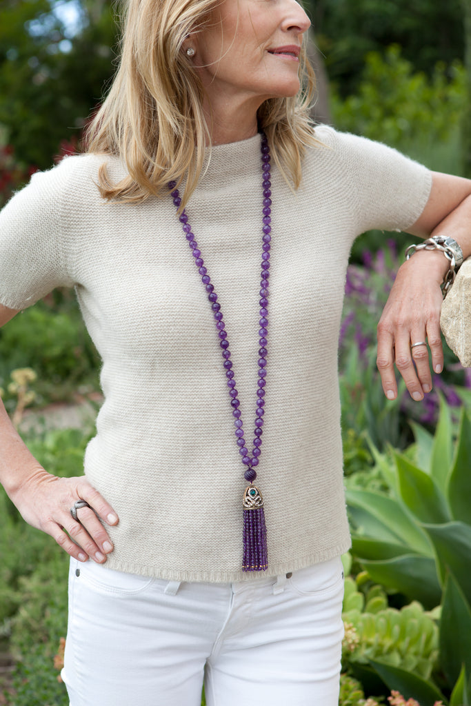 How to wear a long tassel necklace