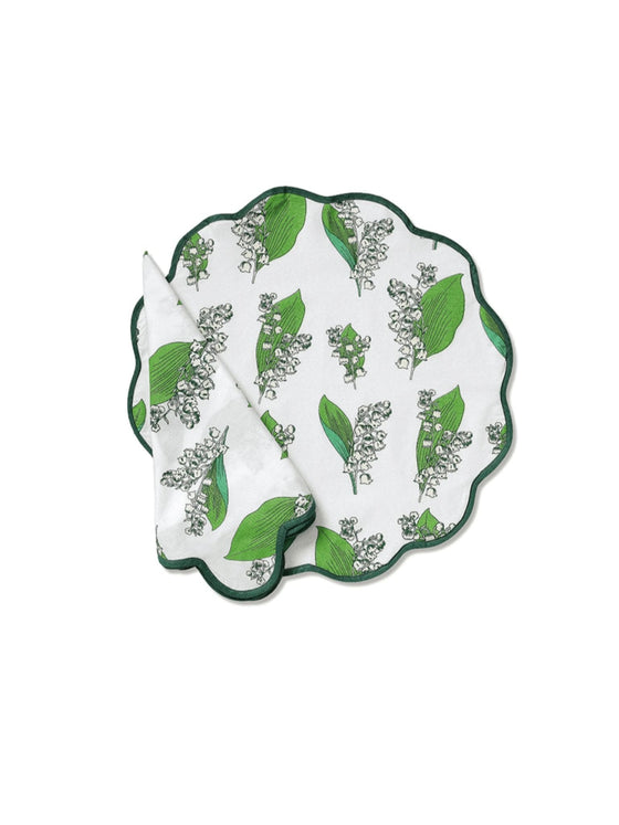 Lily-of-the-Valley Napkin and Placemat (set of 4)
