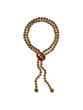 Load image into Gallery viewer, Matte Picture Jasper Necklace with Loop Design and Carnelian Accent