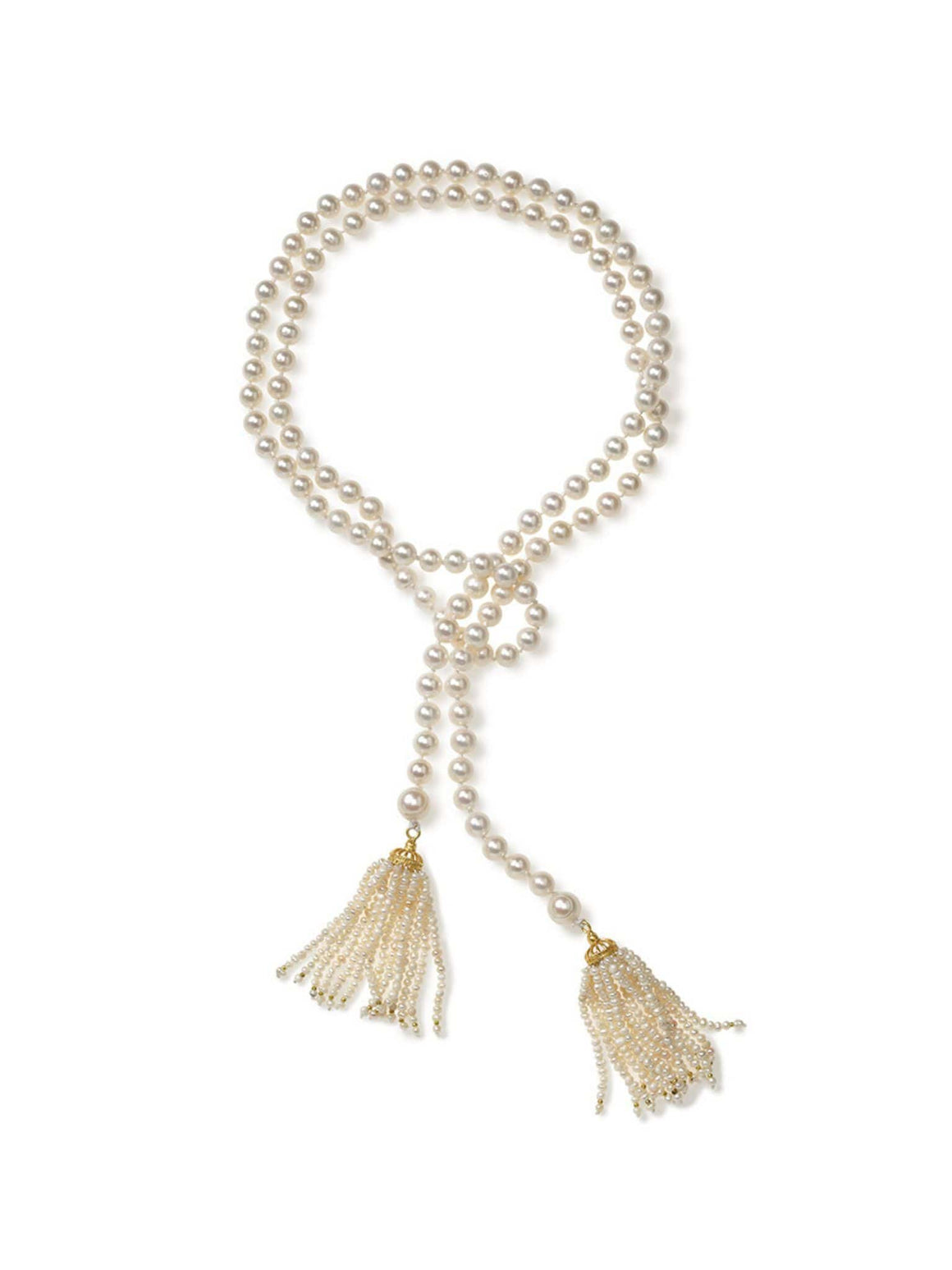 Freshwater Pearl Lariat with Turkish Tassel