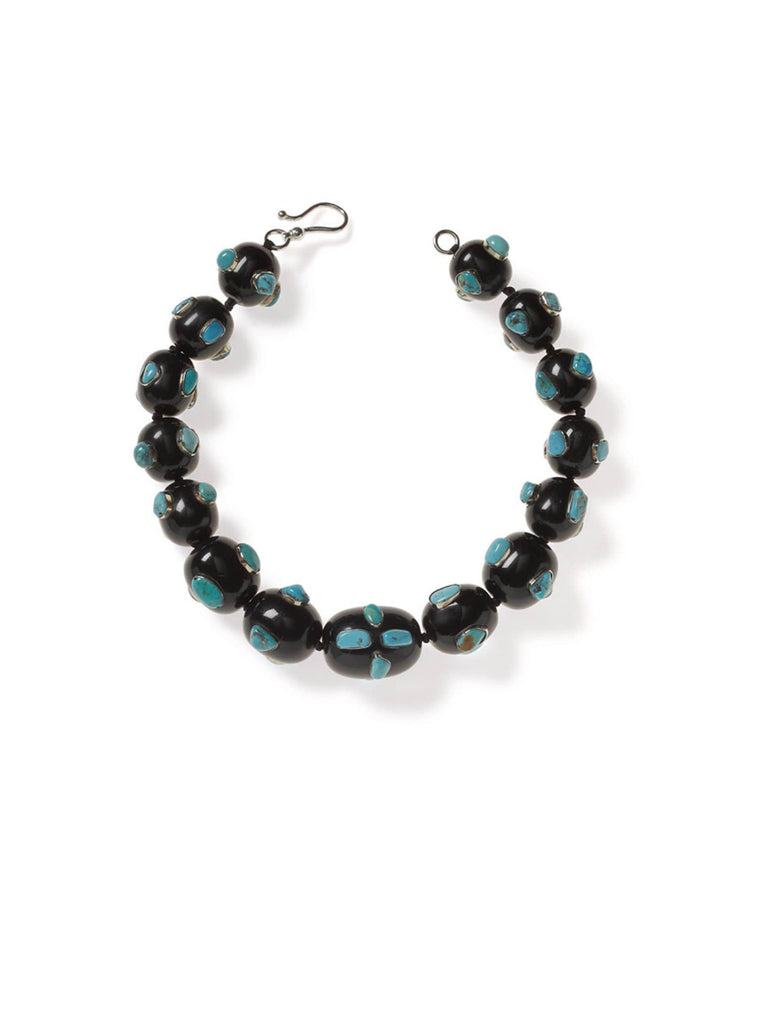 Black Resin with Turquoise Necklace
