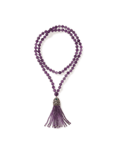 Load image into Gallery viewer, Amethyst Turkish Tassel Necklace