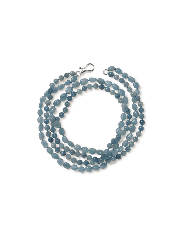 Aquamarine Wrap-Around Necklace.