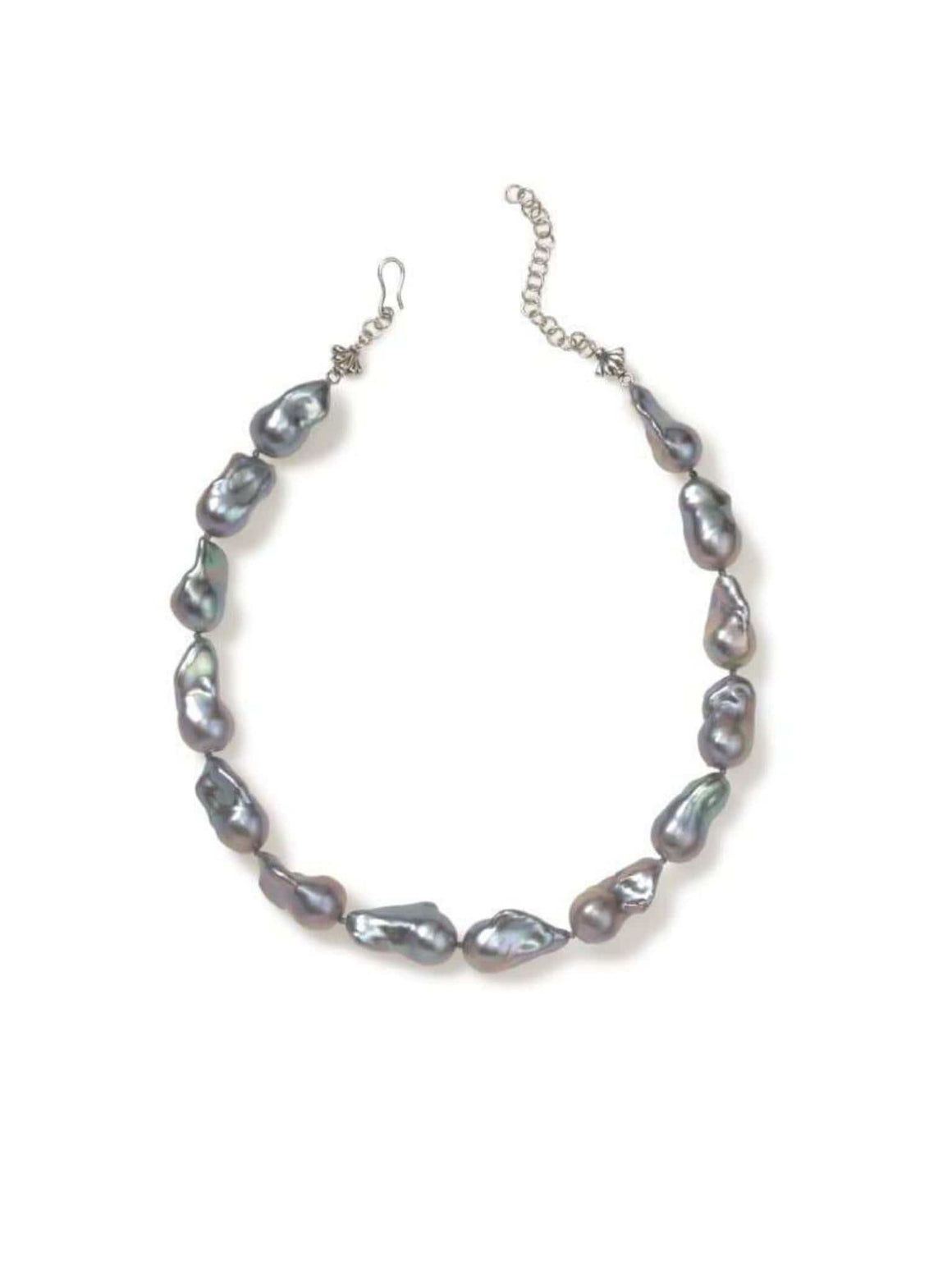 Grey Baroque Pearl Choker Necklace