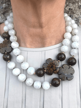 Load image into Gallery viewer, Moonstone with Bronzite Details and Gold Accents