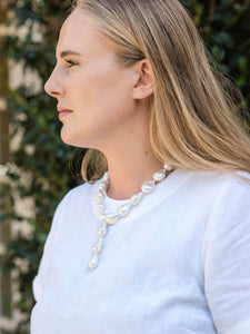 Ivory Baroque Pearl Drop Necklace