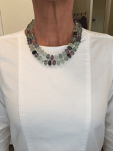 Load image into Gallery viewer, Carved Fluorite Wrap-Around Necklace