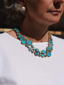 Turquoise with Copper Wrap-around Necklace