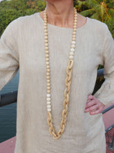 Load image into Gallery viewer, Ivory Marnalis Hardwood Chain Necklace