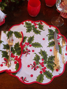 Holiday Print Napkin and Placemat (set of 4)