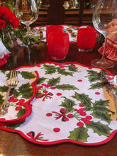 Load image into Gallery viewer, Holiday Print Napkin and Placemat (set of 4)