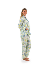 Load and play video in Gallery viewer, Blue / Yellow Floral Print Pajamas