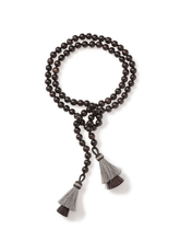 Load image into Gallery viewer, Brown Ironwood Necklace with Horsehair Tassels
