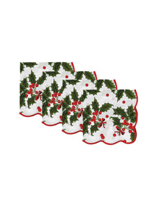 Holiday Print Napkins (set of 4)
