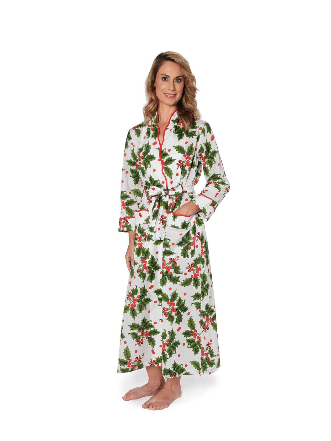 Holiday Print Tailored Robe