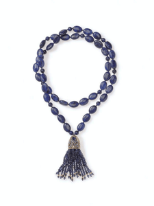 Lapis Turkish Tassel Necklace