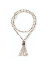 Load image into Gallery viewer, Long Freshwater Pearl Necklace with Turkish Tassel