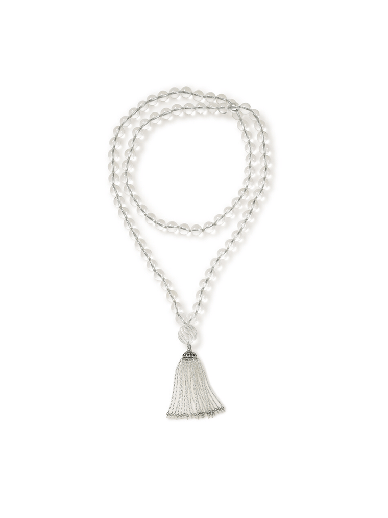 Long Turkish Tassel Quartz Crystal Necklace