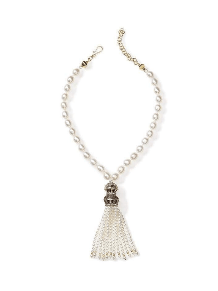 Short Freshwater Pearl Necklace with Turkish Tassel