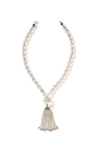 Short Turkish Tassel Quartz Crystal Necklace
