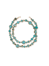 Load image into Gallery viewer, Turquoise with Copper Wrap-around Necklace