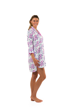 Load and play video in Gallery viewer, Pink-Blue Floral Nightshirt