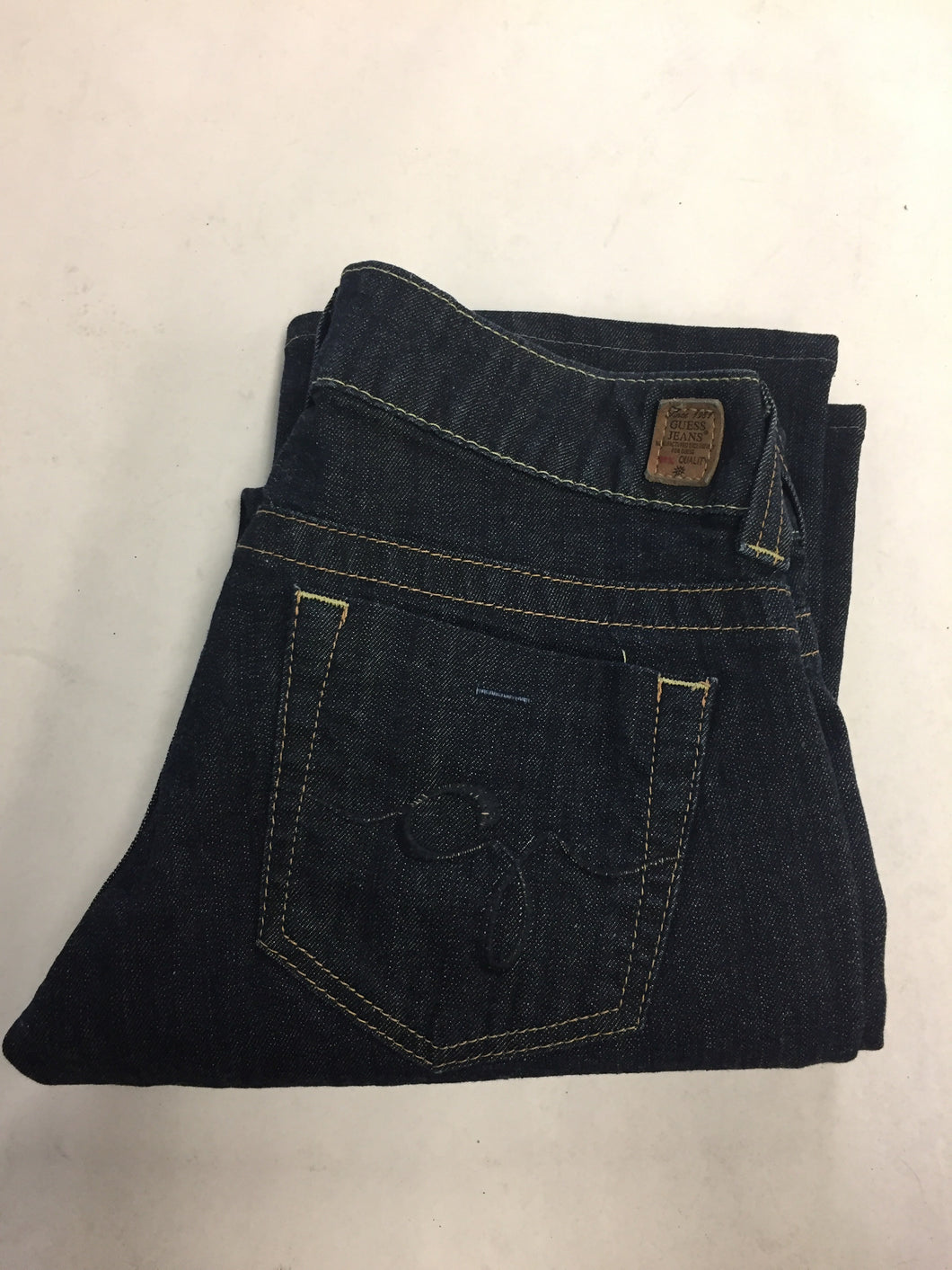 sports shoes 15f86 bc73b Guess Dark Denim Daredevil Bootcut Jeans, Women's 27