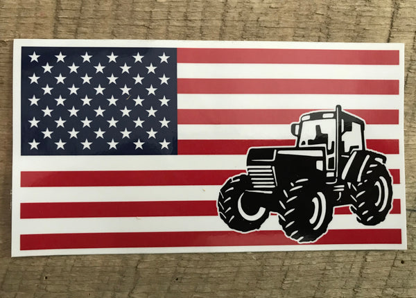 American Flag and Tractor Decals