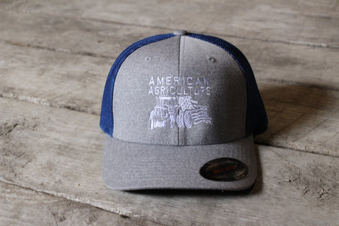 Hats-American Agriculture Tractor Logo Yupoong Flexfit