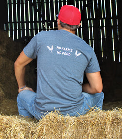 No farms No Food Wheat Tee