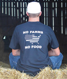 No Farms No Food USA Outline Sweatshirt