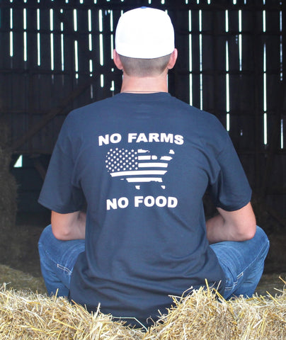 No Farms No Food USA Outline Tee