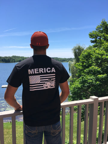 Merica T-shirt Bayside made in the USA