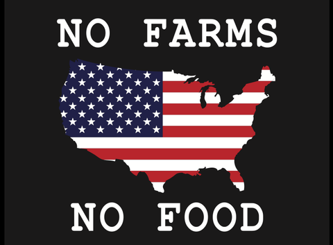 No Farms No Food Decals