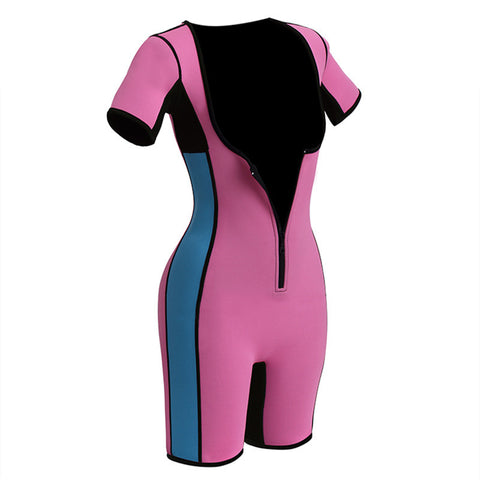 Plus Size Neoprene Bodysuit With Zipper