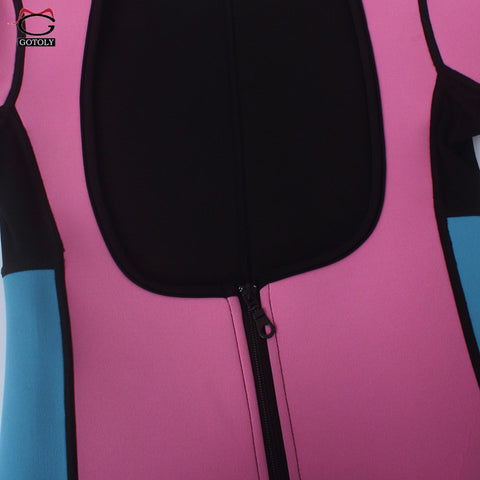 Image of Plus Size Neoprene Bodysuit With Zipper