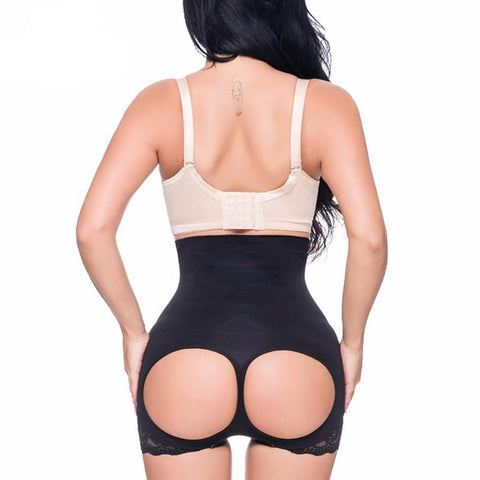 Image of High Waist Shaper Short With Open-Rear Lift