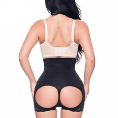 High Waist Shaper Short With Open-Rear Lift