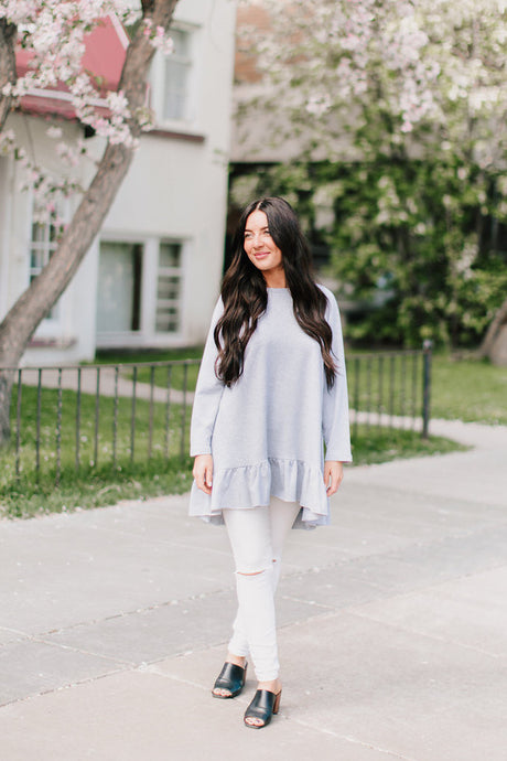 Blair Ruffle Tunic Sweater