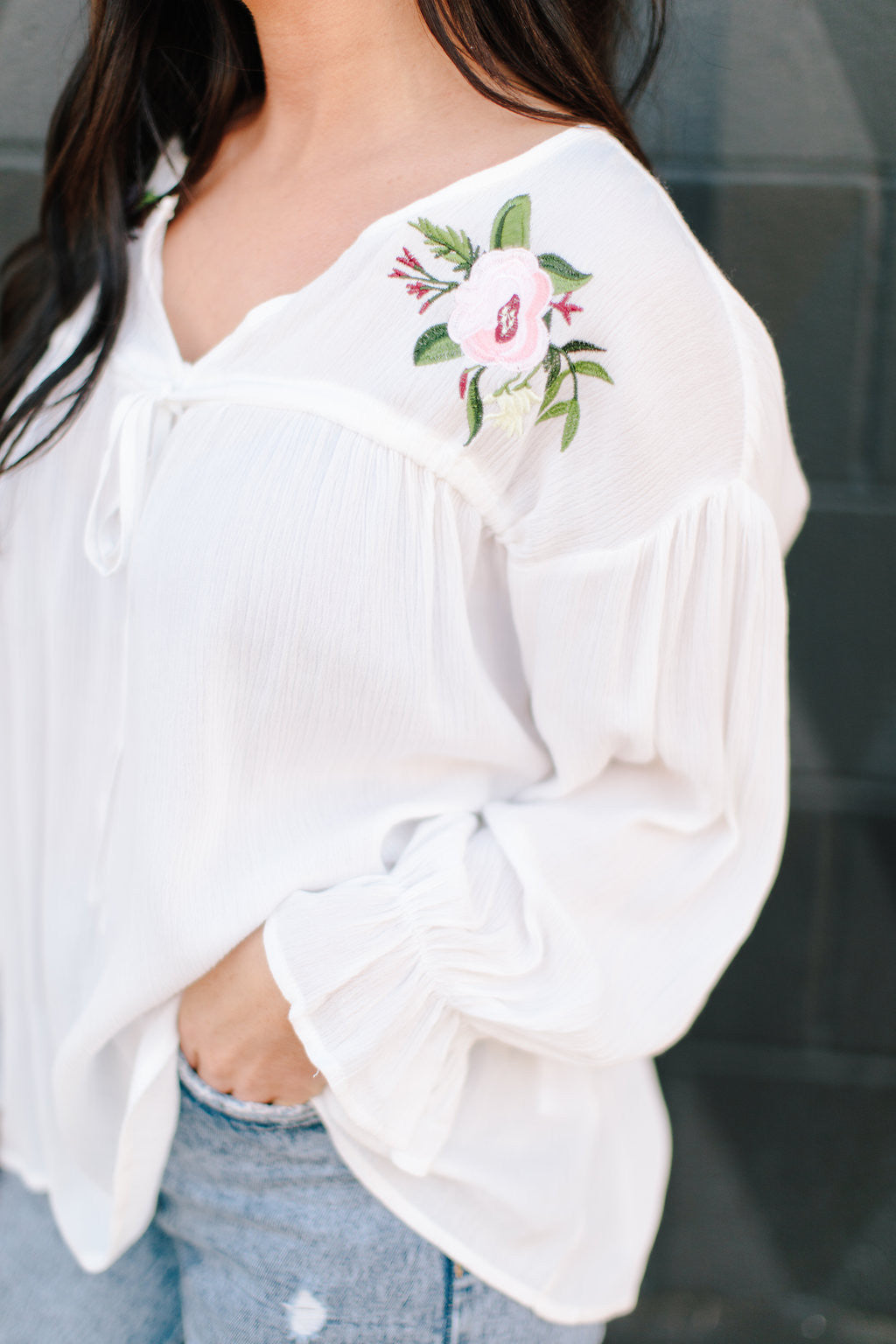 Lolo Floral Embroidered Blouse