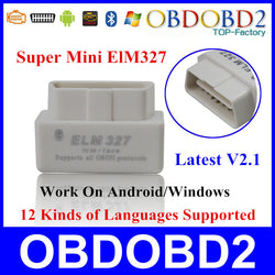 Interface Diagnostic ELM327 Bluetooth V2.1 OBD2  OBDII pour Android Windows Symbian