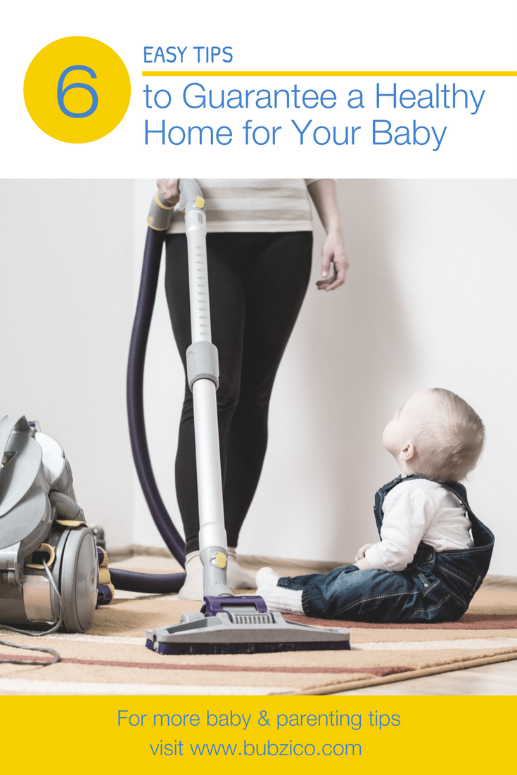 A clean home is important, especially for infants will go a long way to keeping your newborn's health in check. Click to learn easy tips to help limit your baby's exposure to all those nasty germs. Help your little one feel better, like using products like Bubzi Co.'s Nasal Aspirator.  It will help to unblock baby's stuffy nose when they're suffering from their first cold. | Best Baby Stuff + Products + Must Have Essentials | #NewMomAdvice #BabyShowerGifts #BabyThings #BubziCo