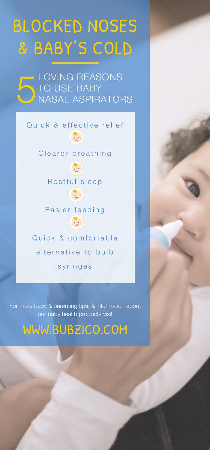 The 1st time your baby gets a cold & their nose is stuffy, it's hard to watch them as they struggle to breathe. Using a nasal aspirator like Bubzi Co.'s Premium Baby Nasal Aspirator can help clear your newborn's nose safely & easily. It effortlessly cleanses & clears your infant's stuffy nose quickly. It is an essential product for any new parent. Try it the next time your baby is congested – it works! | Best Baby Stuff + Must Have Products | New Mom Tips + Tricks|  #BabyShowerGifts #BabyThings