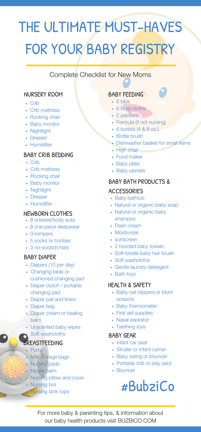 Must Have First Baby Registry The Complete Checklist For