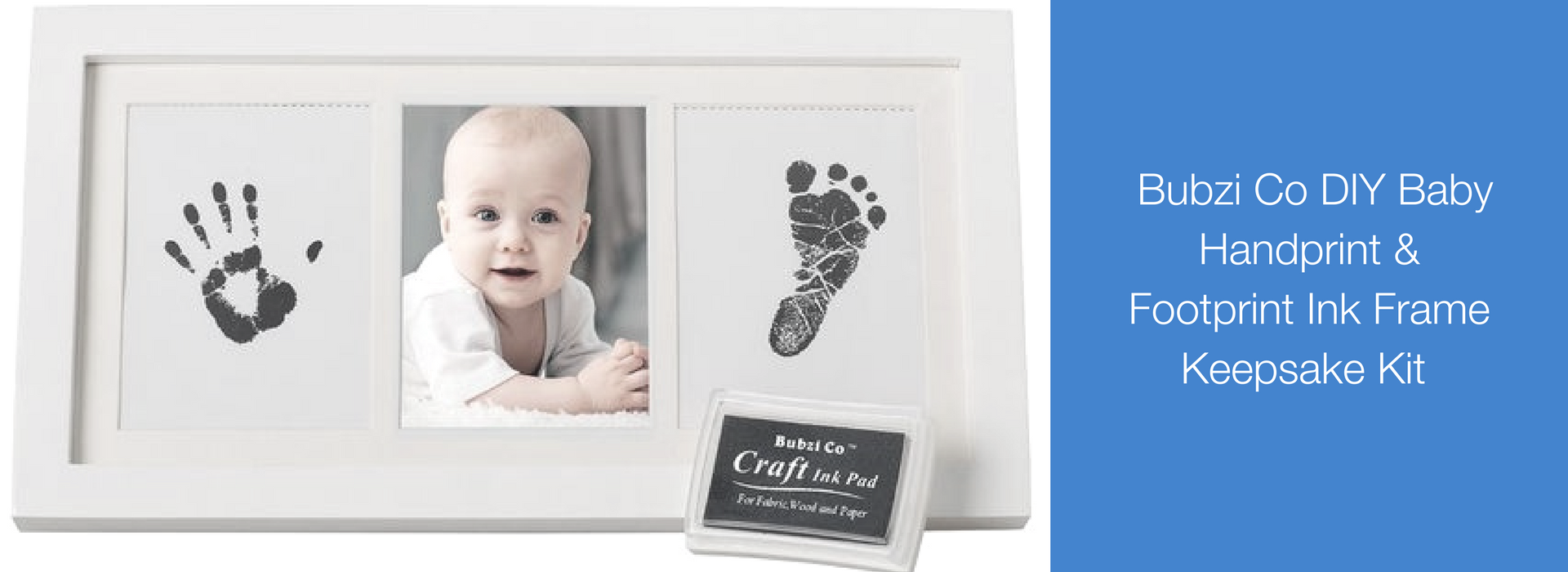 There's so many ways you can use your baby's hand and foot prints to create fun & lasting keepsake gifts for friends and family. Whether you create a baby shower invitation or a DIY Christmas ornament, it's the perfect way to remember your newborn before their little hands & feet grow too big. If you'd rather buy a kit to save you time & money consider a DIY kit like Bubzi Co.'s Baby Handprint and Footprint Ink Frame Keepsake Kit. #BabyShowerGifts #NewBornPortraits #BabyCrafts #BabyArtPrint